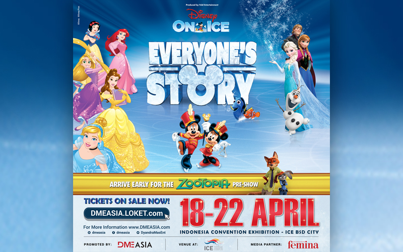14 Kisah Klasik Disney Hadir Di Pertunjukan Disney On Ice 2018