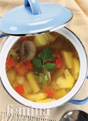 Sup Isi Ayam Nanas