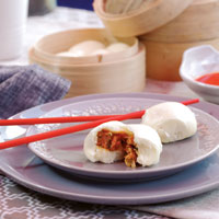 Chicken and Kimchi Steamed Buns