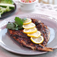 Grilled Snapper With Black bean Paste And Nam Pla Prik