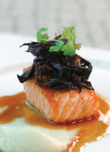 Salmon Confit & Wild Mushroom