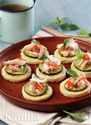 Canape salad ayam for Resep canape kontinental