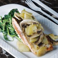 Salmon Panggang Saus Apel
