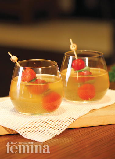 Chilled Tomato Concomme
