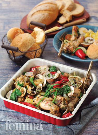 Portuguese Chicken With Chorizo And Clams