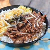 Nasi Siram Daging Sukiyaki