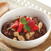 Almond Strawberry Chocolate Risotto