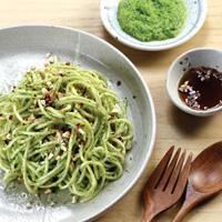 Spaghetti Pesto Bok Choy