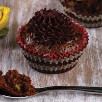 Avocado Brownie Cupcake