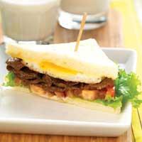Sandwich Isi Daging Madu Tumis