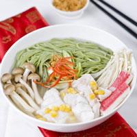 Green Tea Mie Soup