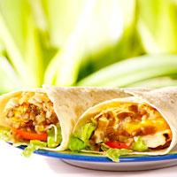 Salad Ayam Jeruk Bungkus Tortilla