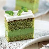 Cake dan Jelly Teh Hijau
