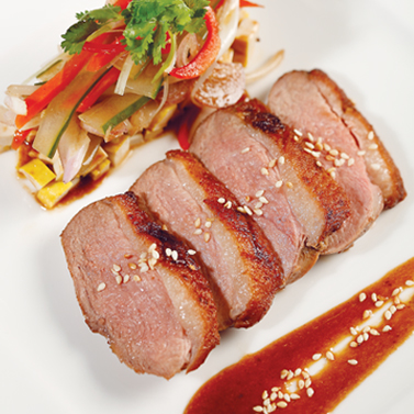 Duck Breast With Sprout Salad