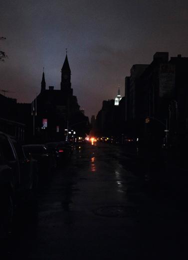 Sebagian Manhattan Tanpa Lampu