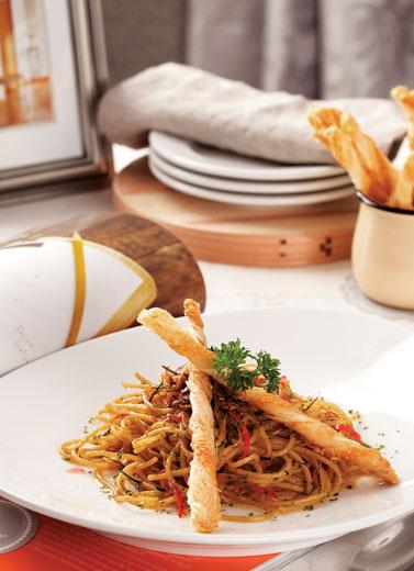 Terpikat Spaghetti Sambal Matah
