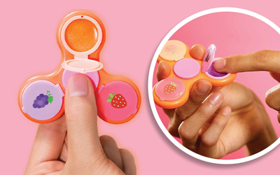Tren Mainan Ikut Meramaikan Produk Kecantikan, Ini Lip Gloss Bentuk Fidget Spinner