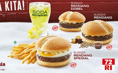 McDonald's Luncurkan Burger Rasa Rendang