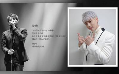 """Saya Hancur di Dalam"": Ini Curahan Hati Terakhir Jonghyun 'SHINee' Sebelum Bunuh Diri"