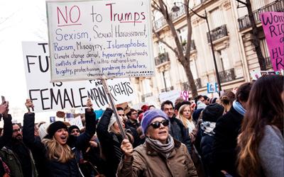Protes Wanita Dunia Terhadap Presiden Amerika Serikat, Donald Trump
