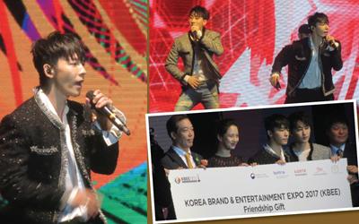 Membuka Korea Brand & Entertainment Expo (KBEE) 2017 Jakarta, Super Junior D&E Membuat Penonton Bersorak Tanpa Henti