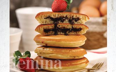 Pancake Isi Cokelat Kacang
