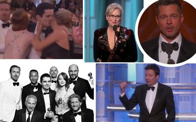 Ryan Reynolds Mencium Andrew Garfield? Cek 6 Momen Seru di Golden Globe Awards 2017 yang Sulit Terlupakan
