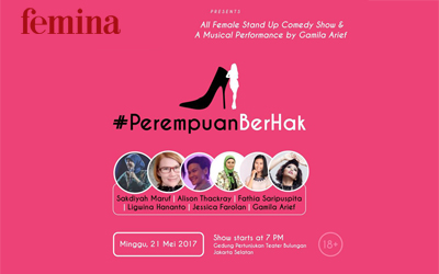 Yuk, Nonton Stand Up Comedy #PerempuanBerHak