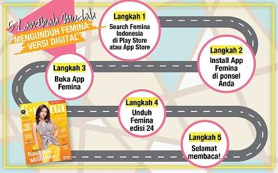 5 Langkah Mudah Mengunduh E-Magz Femina Edisi 24/2017