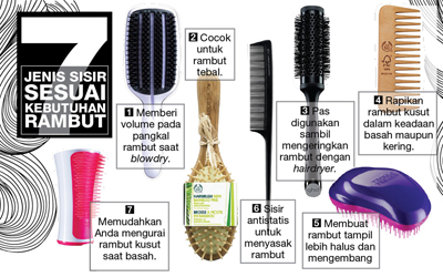 Infografis: 7 Jenis Sisir Sesuai Kebutuhan Rambut