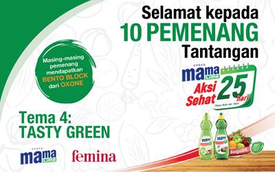 Apakah Anda Salah Seorang Pemenang Tantangan #AksiSehat25Hari Tema Tasty Green? Cek di Sini!