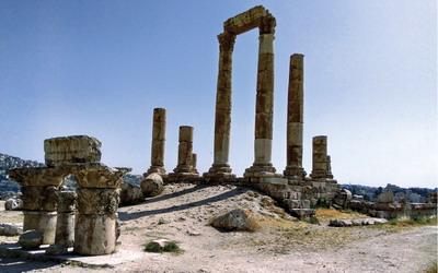 Jalan-jalan ke Hercules Temple di Amman, Yordania