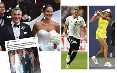 Dukungan Cinta  Ana Ivanovic – Bastian Schweinsteiger