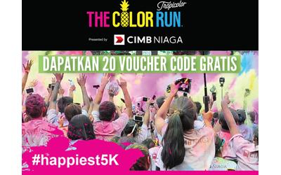 Selamat kepada Para Pemenang yang Dapat Voucher Code The Color Run 2016 dari femina