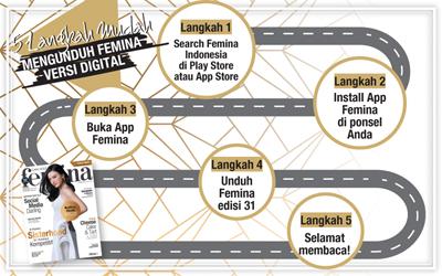 5 Langkah Mudah Mengunduh E-Magz Femina Edisi 31/2017