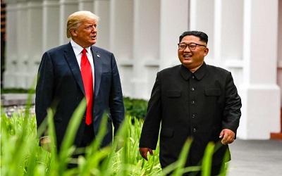 Video Ala Hollywood Presiden Trump untuk Kim Jong Un