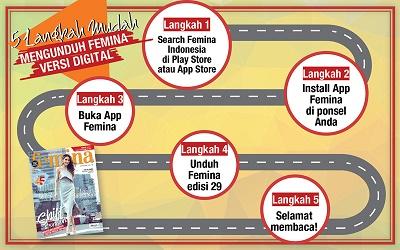 5 Langkah Mudah Mengunduh E-Magz Femina Edisi 29/2017