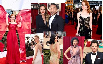 Karpet Merah di SAG Awards 2017 Didominasi Gaun Transparan