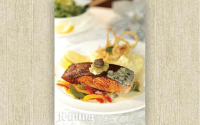 Resep Gebratenes Lachsfilet, Hidangan Salmon ala Jerman