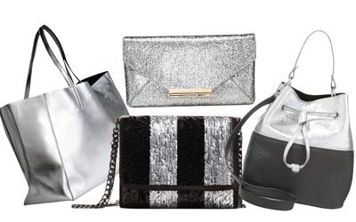 4 Pilihan Gaya dengan Tas Silver Metalik