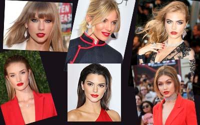 6 Selebritas Dengan Pesona Bibir Merah