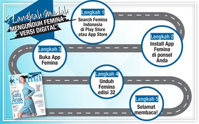 5 Langkah Mudah Mengunduh E-Magz Femina Edisi 32/2017
