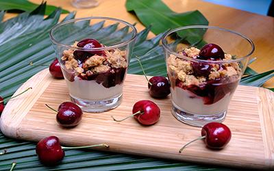 Dua Kreasi Hidangan dari Buah Cherry a la Chef Yuda Bustara