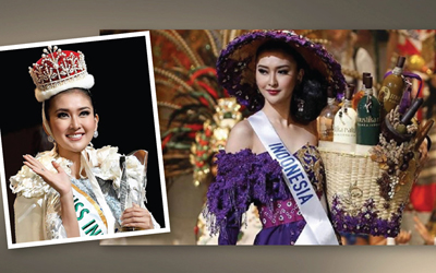 Uniknya Kostum Nasional yang Dikenakan Miss International 2017 Kevin Liliana