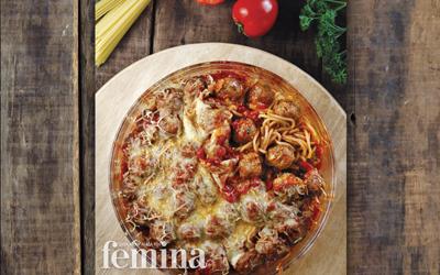 Spaghetti Beef Meatball Casserole
