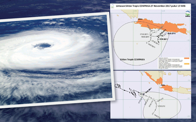 """Cempaka"" Layu, Tumbuh ""Dahlia"": Siklon Tropis Penyebab Cuaca Ekstrem Masih Akan Menghampiri Indonesia Beberapa Hari Mendatang"