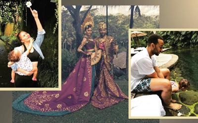 Berkunjung ke Bali, Ini Foto-foto Liburan John Legend dan Chrissy Teigen