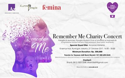 Hadiri Remember Me Charity Concert Persembahan Alzheimer Indonesia!