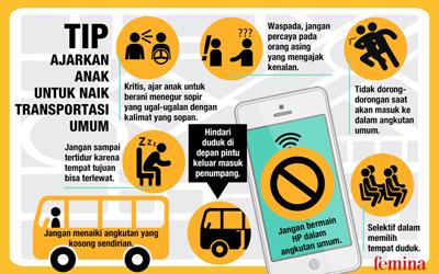 Tip Ajarkan Anak untuk Naik Transportasi Umum