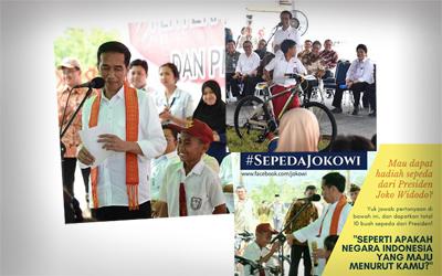 Presiden Joko Widodo Bagi-bagi #SepedaJokowi untuk 10 Orang! Anda Mau?